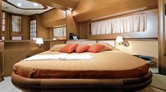 Mochi Craft Dolphin 44' Master Bedroom #theyachtowner #theyachtownernet