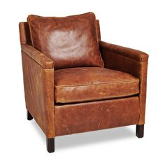 Irving Place Heston Leather Chair  sc 1 st  Pinterest & Irving Leather Armchair with Nailheads | PB: Spring 16 | Pinterest ...