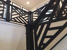 Interesting stair banister.