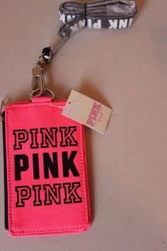 Pink Victoria's Secret ID Card Holder Lanyard Wallet Limited Edition PINK - NEW #VictoriasSecretPINK