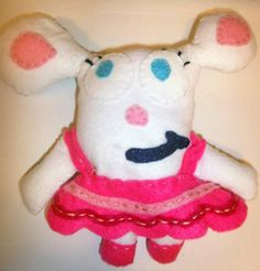 Handmade plush Mia toy from Boj (as seen on CBeebies and Sprout)
