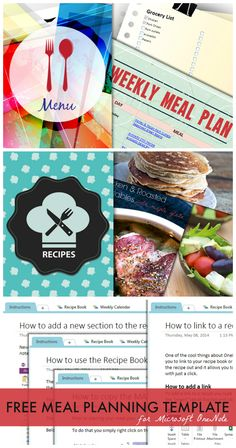 Let's get organized! Frugal Meals, Budget Meals, Budget Recipes, One Note Microsoft, Microsoft Office, Budget Meal Planning, Money Saving Meals, Menu Planners, Recipe Instructions