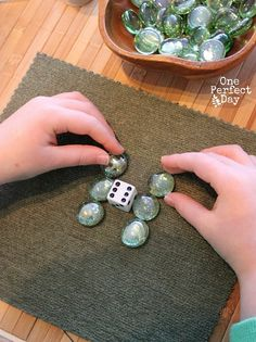 Preschool Math Games with Loose Parts - One Perfect Day ****Do this in Block area with big blocks, trucks,  waffle blocks, etc.
