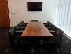 ウォールナット一枚板ミーティングテーブル - 一枚板納入事例105 -   ATELIER MOKUBA 一枚板テーブル・家具