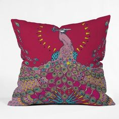 DENY Designs Geronimo Studio Red Peacock Throw Pillow, 16-Inch by 16-Inch by DENY Designs, http://www.amazon.com/dp/B008C7ZR4M/ref=cm_sw_r_pi_dp_G-xDrb08C78CT