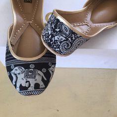 Custom shoes printed flats navy blue flats elephant by ShopSoma