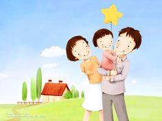 Lovely_illustration_of_Happy_family_in_field_2_wallcoo.com.jpg (1600×1200)