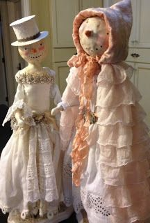 Merry Wishes and Vintage Dreams, beautiful dolls by Colleen Moody...Love her work.