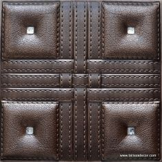 Lt55 Chocolate Leather Tile Panels Are Great And Convenient Decorative Products That
