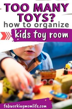 Too Many Toys??? I feel ya mama! Read on for Tips To Organize A Kids Play Room With Too Many Toys | Fab Working Mom Life #parenting #organize #clutter #kidstoys #toyorganization Parenting Toddlers, Parenting Advice, Every Mom Needs, Kids Room Organization, Toy Rooms, Summer Activities For Kids, Kids Health, Working Moms, How To Better Yourself