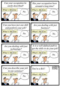 Humor - Cartoon: What's My Line? - Business Analyst Edition