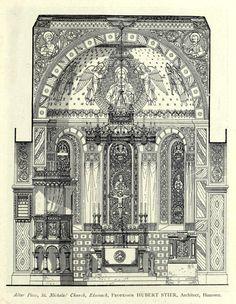 Interior of St. Nicholas church in Eisenach, Germany