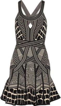 Printed Bandage Dress - Lyst