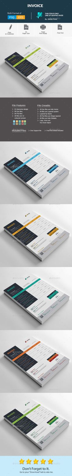 Invoice - #Stationery Print Templates Download here   - how to print invoices