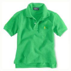 Enfants coton à manches courtes Polo en vert Polo Ralph Lauren Outlet, Ralph  Lauren Shorts bac3852b12ee