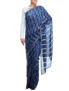 Indigo saree