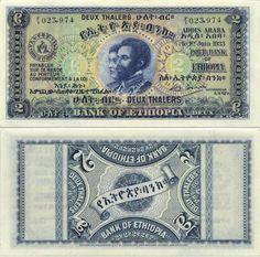 Ethiopia 2 Thalers 1933 - Emperor Haile Selassie (Ras Tafari) and Empress of Ethiopia.