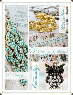 DIY Jewelry Styled by Tori Spelling. Pure AWESOMENESS!