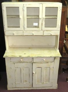 Rustic Primitive Painted Cellar Cupboard Kitchen Cabinet Glass Door 5  Drawer Odd | eBay