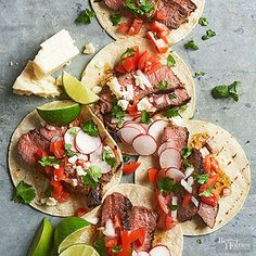 Steak and Herb Tacos From Better Homes and Gardens, ideas and improvement projects for your home and garden plus recipes and entertaining ideas.