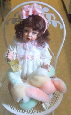 Fayzah Spanos Vinyl Doll  & Plush Rabbit signed 2003 limited edition 127 of 175