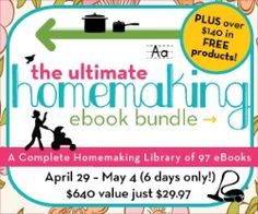 The Southern Institute - This library of homemaking helps include topics such as mothering, organization and cleaning, recipes and kitchen helps, home education, spiritual growth for both moms and kids, home décor and DIY, pregnancy and baby care, frugal living, health and fitness, and even work-from-home and financial tools. $28