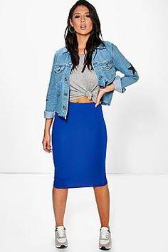 Brea Basic Jersey Midi Skirt