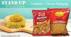 We provide the most popular bag styles for #namkeen #farsanpackaging including #standuppouches, #pillowpouches, #gussetedbags, #flatbottombags, and #retortbags.