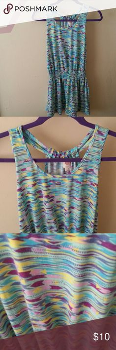 Mint/purple/yellow dress Mint blue/purple/yellow dress, never been used Mossimo Supply Co Dresses Mini