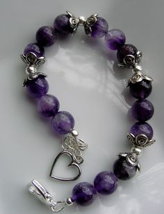 Amethyst Bracelet Calming Stone associated by CherylsHealingGems, $35.00