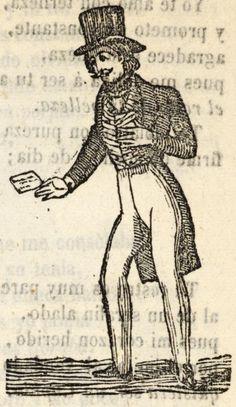 Hombre con una carta en su mano
