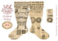 Wings of Whimsy: Vintage Christmas Stocking No 5 #freebie #printable #vintage #christmas #stocking