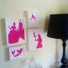 Set of 4 Disney Princess Silhouettes. $20.00, via Etsy.