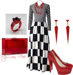 """""""CLEAR RED"""" by myownflow on Polyvore"""