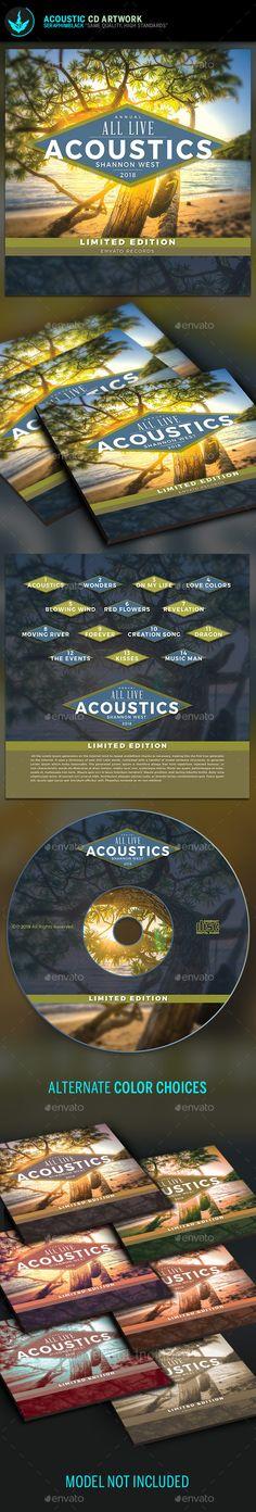 Acoustic CD Artwork Template