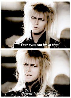 David Bowie Labyrinth, Labyrinth 1986, Labyrinth Movie, Labrynth, Last Unicorn, Goblin King, The Dark Crystal, Jennifer Connelly, Sing To Me