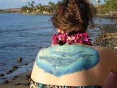 My Humpback Whale tattoo by Mike Horton of Black Tortoise Tattoo in WA.