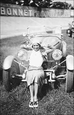 Hellé Nice after her victory in the 1929 Grand Prix Féminin which secured her a sleek Bugatti and the nickname The Speed Queen.
