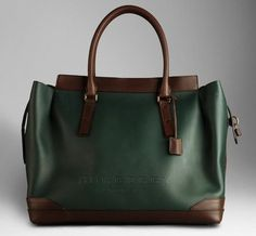 Burberry Oversize Leather Tote Bag