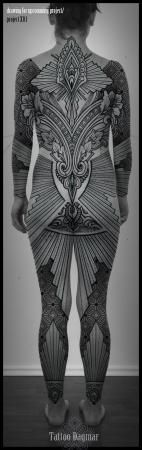 Tattoo Dagmar - Roeselare, Brugge, West-Vlaanderen   Poetic   Ornamental   Dotwork   Pattern   Flower   Art-nouveau   Lace