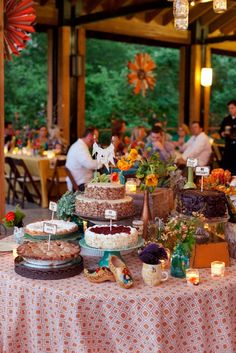 Fun cake table by Southern Event Planners, Memphis, TN