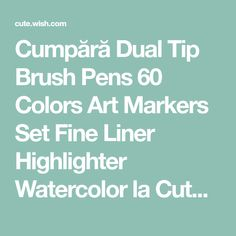 Buy Dual Tip Brush Pens 60 Colors Art Markers Set Fine Liner Highlighter Watercolor at Cute - Beauty Shopping Cute Beauty, Marker Art, Brush Pen, Beauty Shop, Markers, Vibrant Colors, How To Apply, Tips, Sharpies