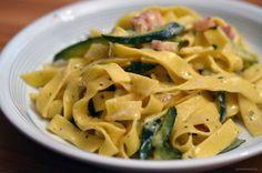 Ein Blitzrezept: Zucchini-Carbonara