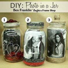 Ben Franklin Crafts and Frame Shop, Monroe, WA: DIY: I LOVE YOU Photos in a Jar
