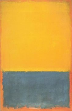 Mark Rothko Untitled (Yellow Blue on Orange) 1955...