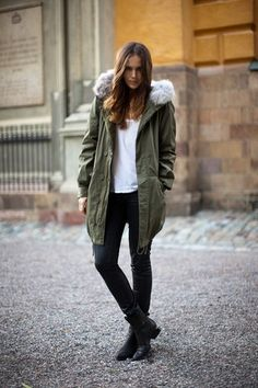sort of obsessed with the ubiquitous green parka