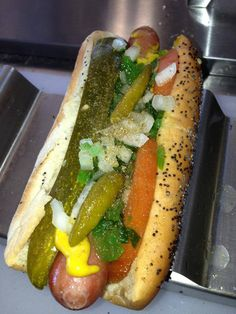 FULLY LOADED CHICAGO DOG!!! -- The MOB Stop photo