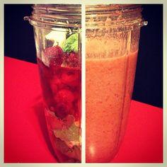 Nutribullet raspberry lemonade - this nutriblast is made with raspberries, Yummy Drinks, Healthy Drinks, Healthy Cooking, Healthy Eating, Cooking Recipes, Healthy Recipes, Juice Smoothie, Smoothie Drinks, Smoothie Recipes