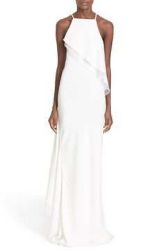 Jason Wu Asymmetrical Ruffle Gown available at #Nordstrom