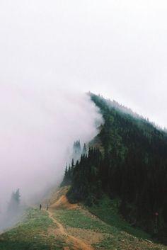 Camping, amazing. Travelling. Misty. Fog.